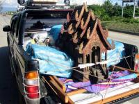 Spirit house on the move