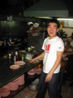 Ben at work in the kitchen