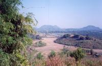 The Maekok plain from the crest of our land, winter
